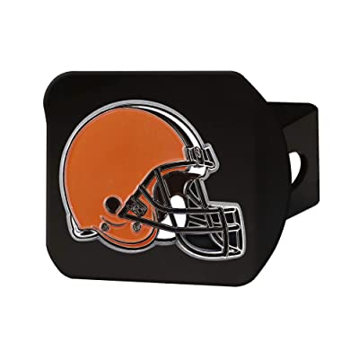 "FANMATS NFL Cleveland Browns Metal Hitch Cover, Black, 2"" Square Type III Hitch Cover: Automotive"