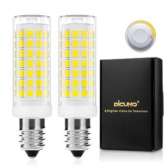 DiCUNO E14 4W LED Bombilla regulable, Blanco frío 5000K, 430LM ...