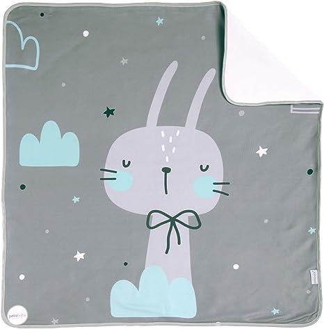 Arrullo para bebé estampado punto de algodón (80 x 80 cm) OH BABY: Amazon.es: Bebé