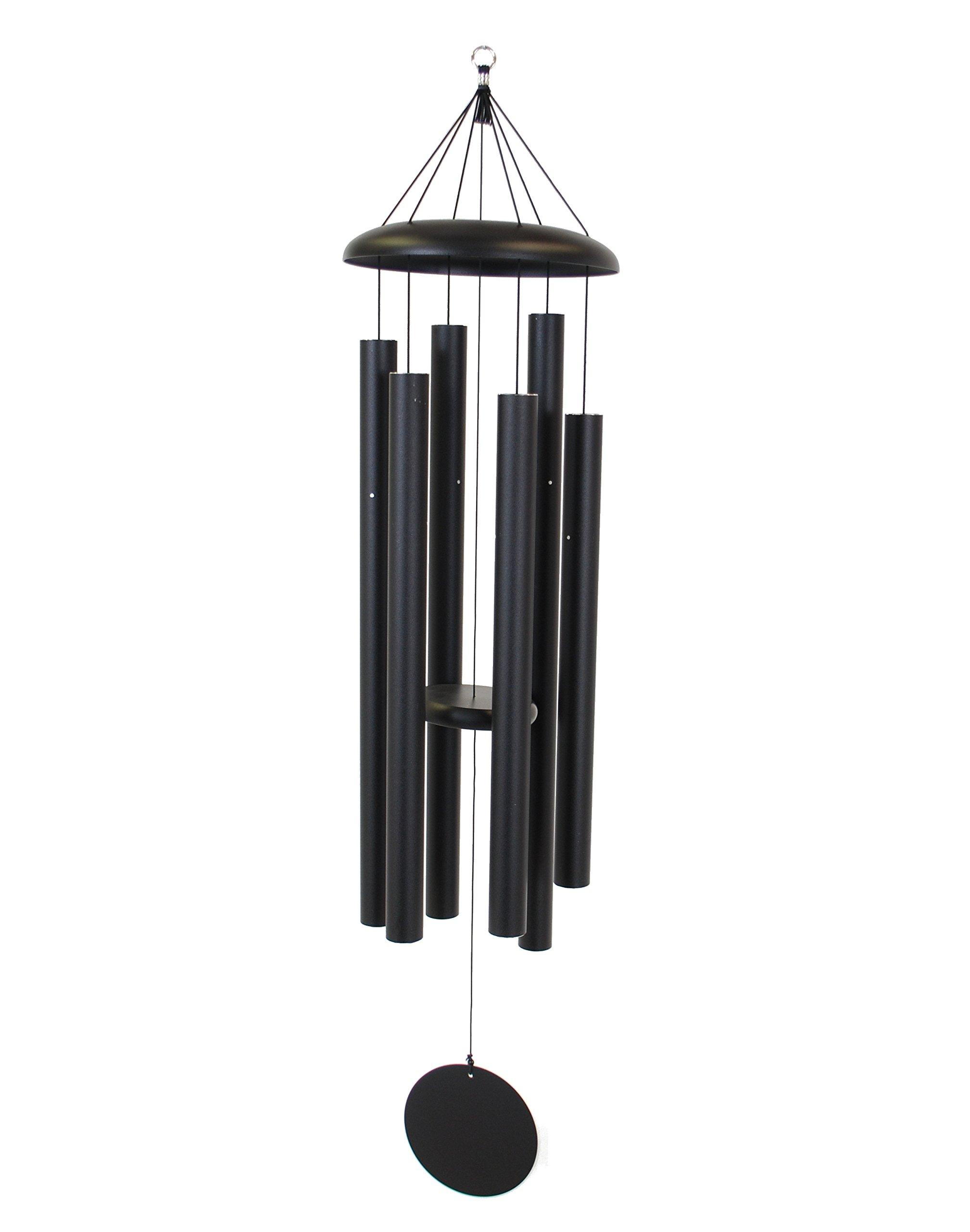 Corinthian Bells 53-inch Windchime, Black