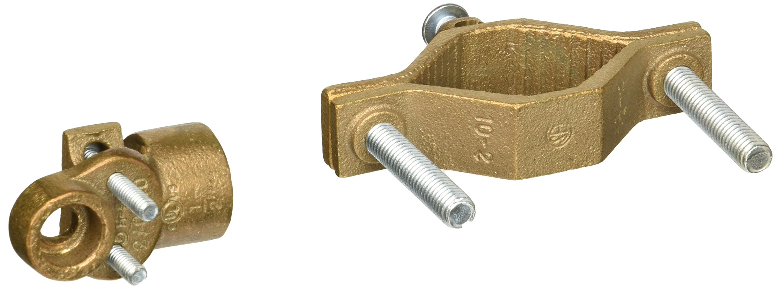 Bronze Ground Clamp with 360 Degree Adapters for Rigid Conduit 1.25-2in. Pipe