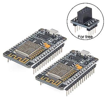 MakerHawk 2pcs ESP8266 Module ESP8266 ESP-12E Development Board NodeMcu LUA  WiFi Internet Development Board New Version CP2102 Chip