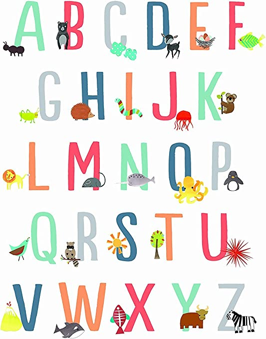 Gender Neutral Nursery Decor Kids Room Decor Playroom Decor ABC Poster Animal Nursery Wall Art Print 11x14 Baby Room Decor Animal Alphabet Poster Nursery Decor Children Wall Art