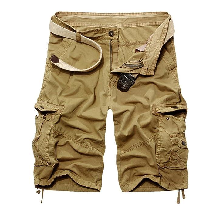 Quge Hombres Militar Laboral Pantalones Cortos Leisure Casual Camuflaje Bermudas Cargo Shorts uTQ6X18xD0