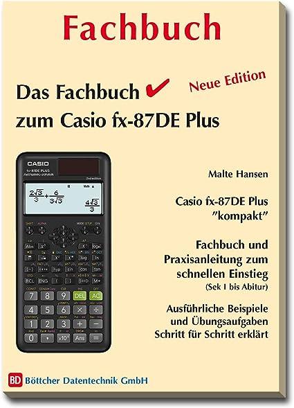 Casio FX-87DE Plus Calcumio incluye funda, libro especializado y set de geometr/ía Calculadora
