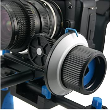 Opteka FF180 Reversible Follow Focus 15mm Rod Compatable for Digital SLR and Video Cameras