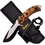 "Elk Ridge 4.25"" Blade-Jungle Camo Handle Fixed Blade Knife"