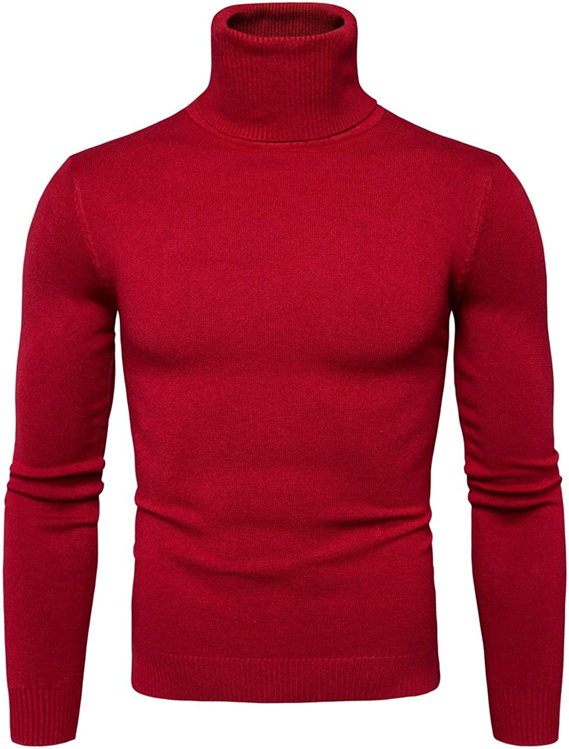 Zsweet Winter Warm Turtleneck Sweater Men Solid Knitted Mens Sweaters Casual Male Double Collar Slim Fit Pullover