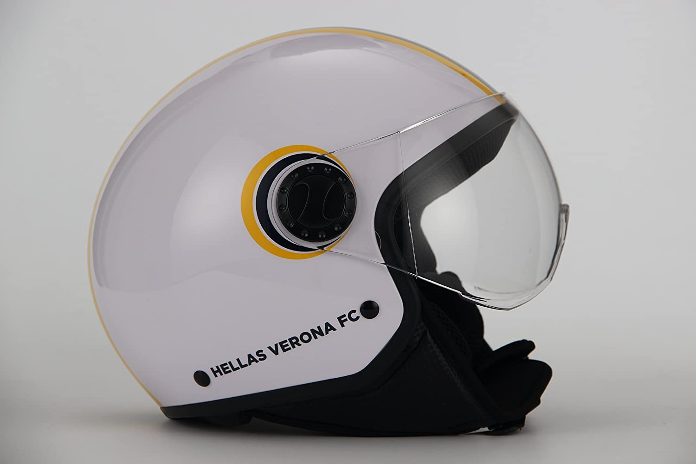 wei/ß Hellas Verona Fu/ßball wei/ß Gr/ö/ße L Gr/ö/ße L BHR 24724/Helm Demi-Jet Line One 801