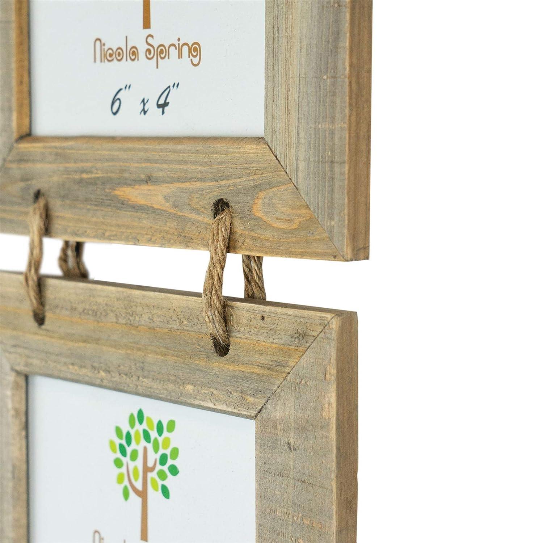 Nicola Spring marcos de foto de madera 3 colgando uno tras otro para fotos 18 x 13cm