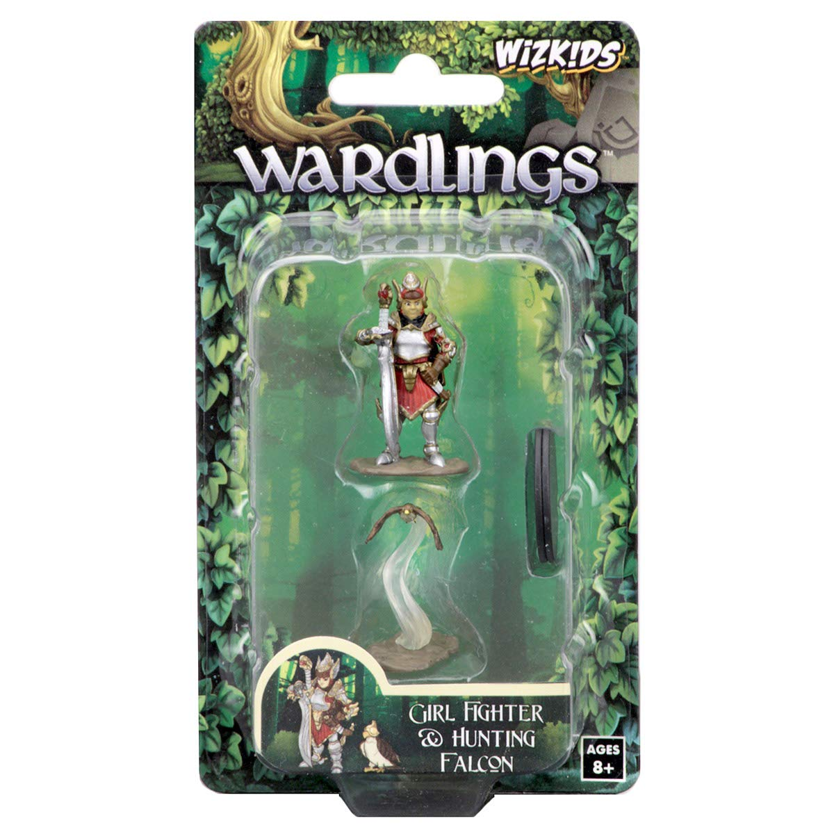 FanHeads Wizkids Wardlings RPG Figures, Girl Fighter Hunting Falcon