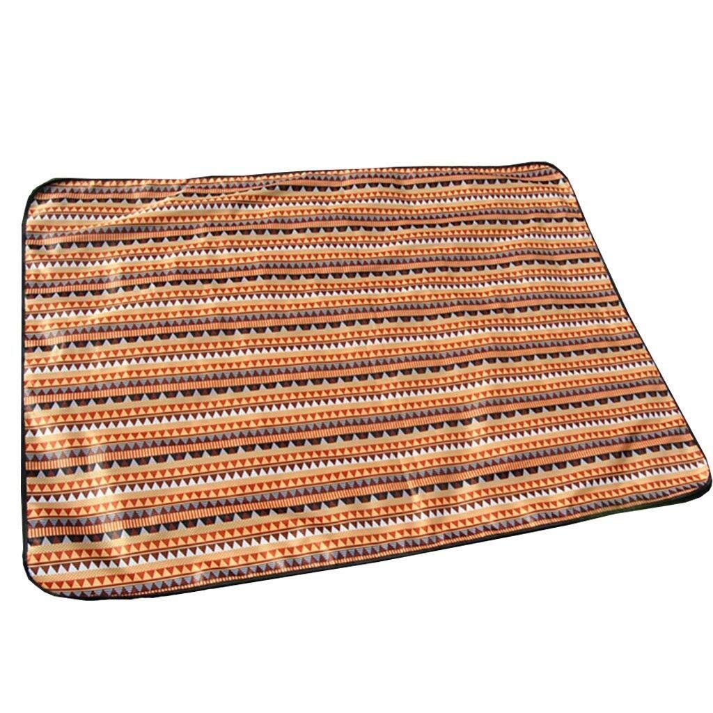 ZKKWLL Picnic Blanket Outdoor Picnic Blanket Multifunctional Beach Blanket Camping Hiking Collapsible Oxford Cloth Picnic mat mat Picnic mat (Color : C) by ZKKWLL
