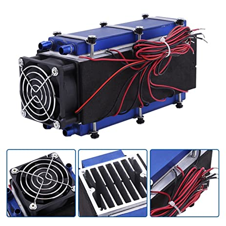 Mini Air Conditioner,DC 12V 576W 8 Chip TEC1 12706 DIY Thermoelectric Cooler