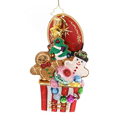 christopher radko christmas cookie comfort brilliant treasure christmas ornament