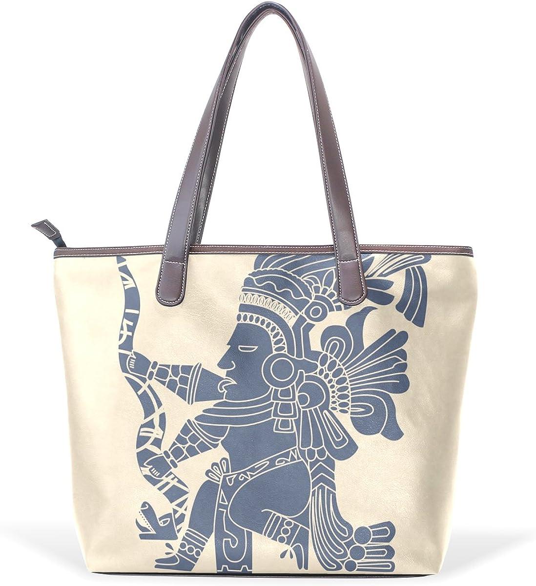 Native American Indian Art Prints Womens Fashion Large Tote Ladies Handbag Shoulder Bag