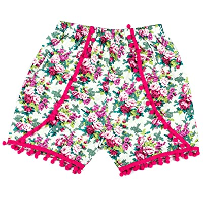 amazingdeal Baby Kids Toddlers Floral Ball Tassels Shorts Fashion Summer Bottoms