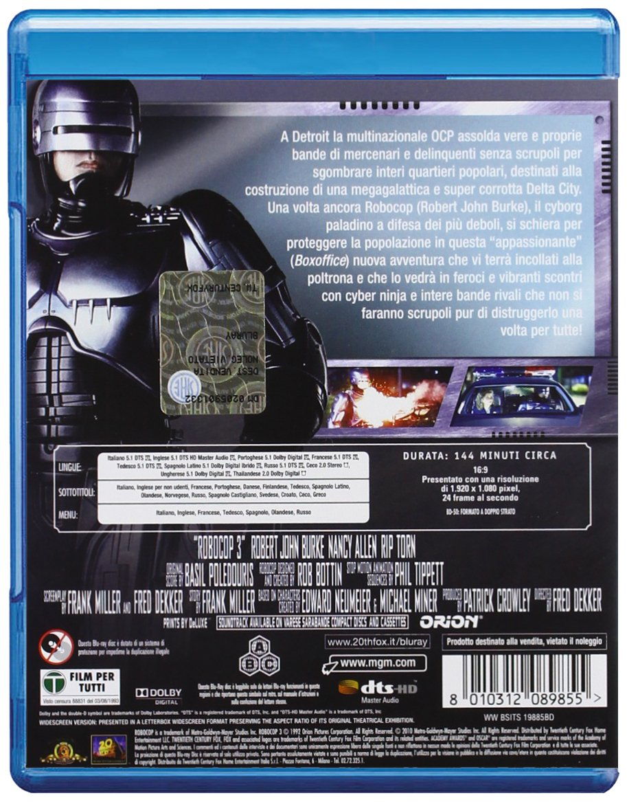 Amazon.com: RoboCop 3 [Blu-ray]: Robert Burke, Nancy Allen ...