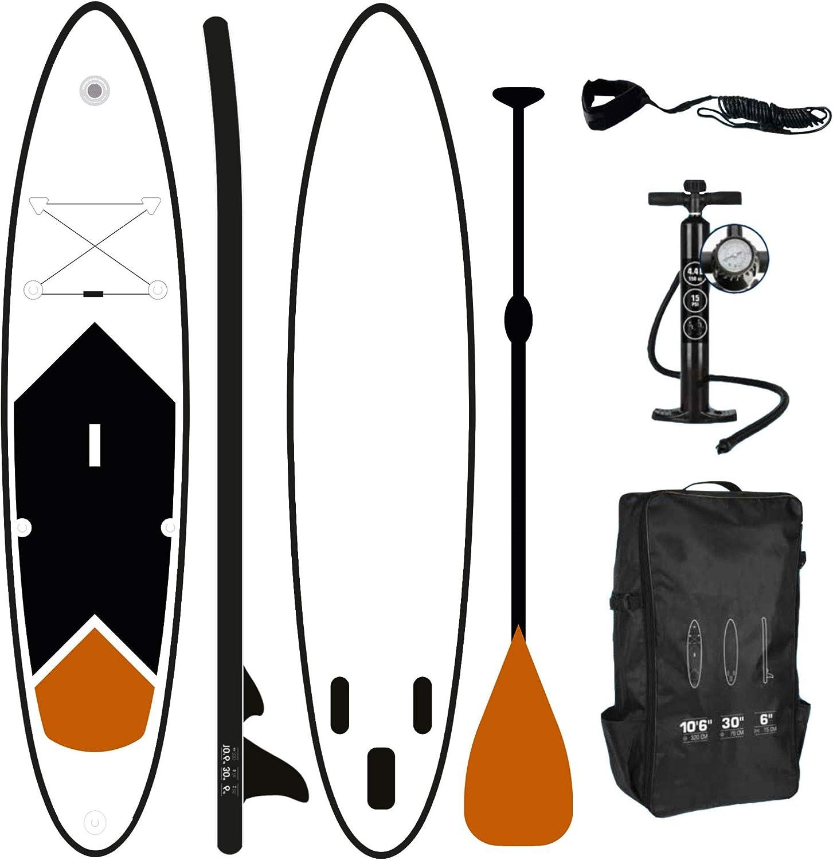 incluye bomba con mochila de transporte y remo telesc/ópico hinchable Tabla de Surf ToCi Standup paddeling tarjeta