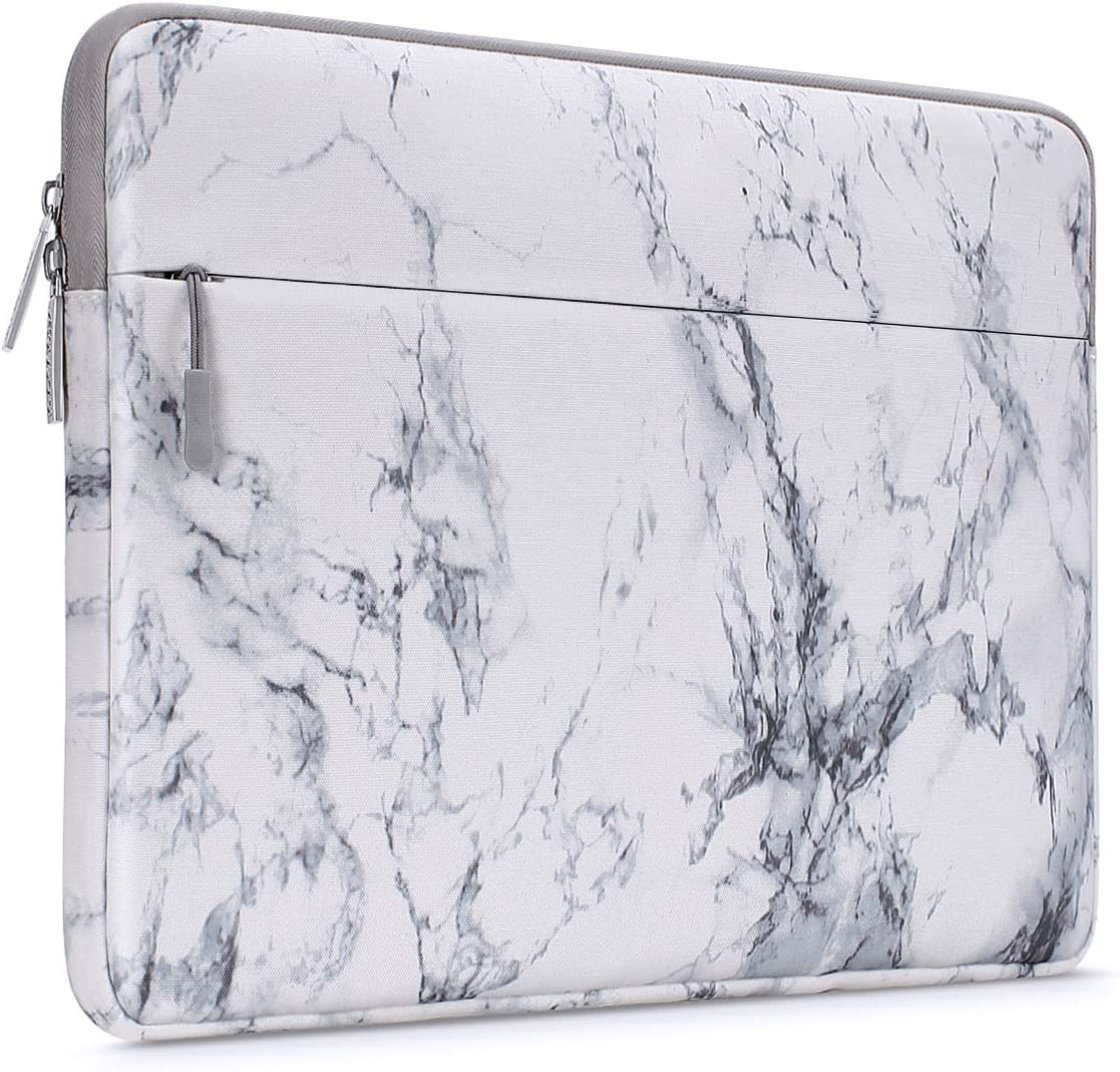 MOSISO Laptop Sleeve Compatible with 15 inch MacBook Pro Touch Bar A1990 A1707, ThinkPad X1 Yoga, 14 HP Acer Chromebook, 2019 Surface Laptop 3 15, Canvas Horizontal Painting Marble Carrying Bag