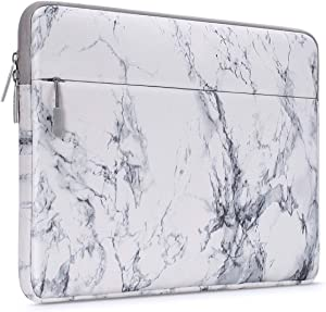 MOSISO Laptop Sleeve Bag Compatible with 2019 MacBook Pro 16 inch A2141, 15-15.6 inch MacBook Pro, Dell Lenovo HP Asus Acer Samsung Sony Chromebook, Canvas Horizontal Painting Marble Carrying Bag