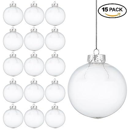 15 Bolas Navidenas Transparentes Decorativas Adorno Para Arbol De - Bolas-de-navidad-transparentes