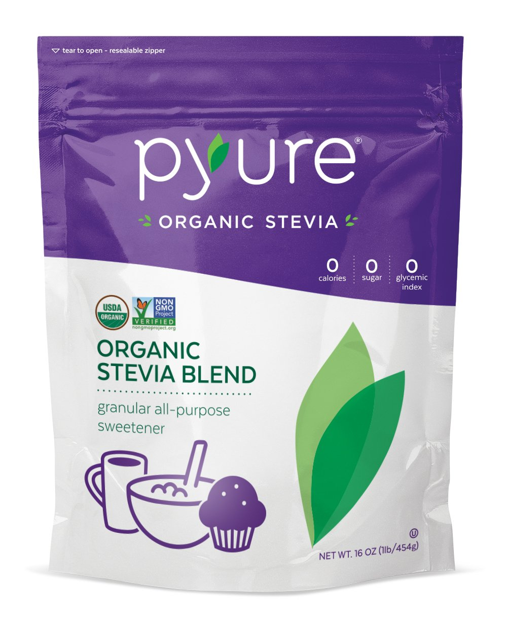 Pyure Organic Stevia All-Purpose Blend Sweetener, 16 Ounce (Pack of 6)