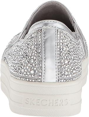Skechers Damen Double Up Glitzy Gal Slip On Sneaker: Amazon 1P73x