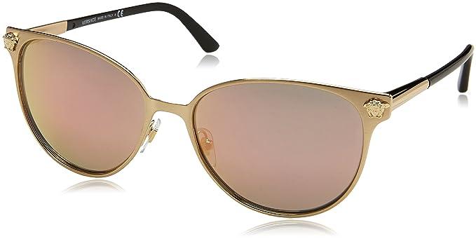 Versace 0Ve2168, Gafas de Sol para Mujer, Brushed Pale Gold ...