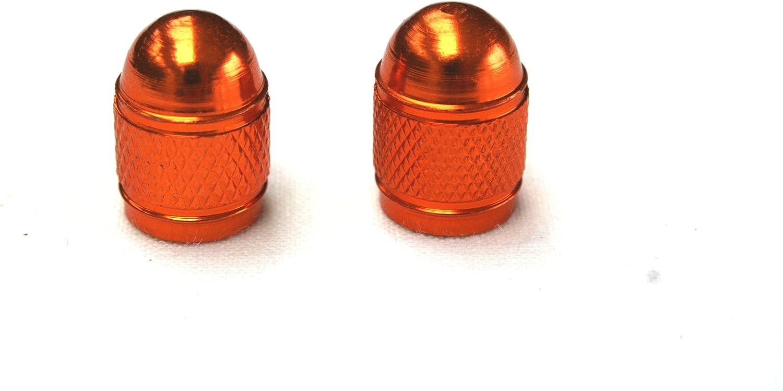 PRAIMATECH Coppia di tappi per le valvole di gonfiaggio dei pneumatici compatibile con KTM colore arancione