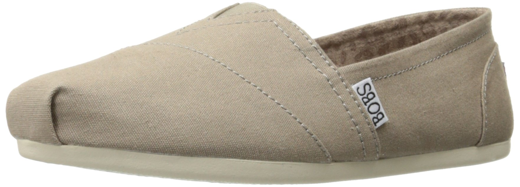 Skechers BOBS Women's Plush-Peace and Love Flat, Taupe, 8.5 W US by Skechers (Image #1)