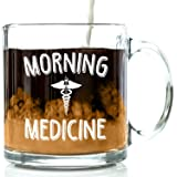 Got Me Tipsy Morning Medicine Funny Coffee Mug - Birthday Gift Idea for Him or Her, Gifts for Women and Father's Day Gift for Dad - 13-Ounce, Glass