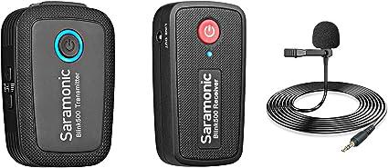 2 4 Ghz Funkmikrofonsystem Für Kamera Smartphones Saramonic Blink500 Ultrakompaktes Zweikanal Mikrofon Für Dslr Spiegellose Und Videokameras Mobilgeräte Youtube Facebook Live Musikinstrumente
