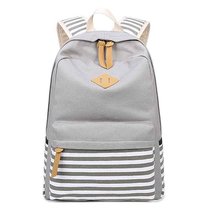 Abshoo Causal Canvas Stripe Backpack Cute Teen Backpacks For Girls School Bag by Abshoo