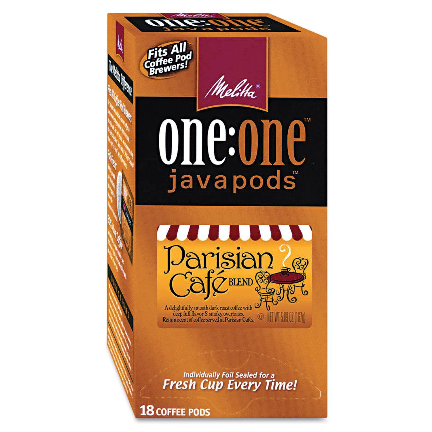 One:one Coffee Pods, Parisian Cafe, 18 Pods/box Tools Equipment Hand Tools