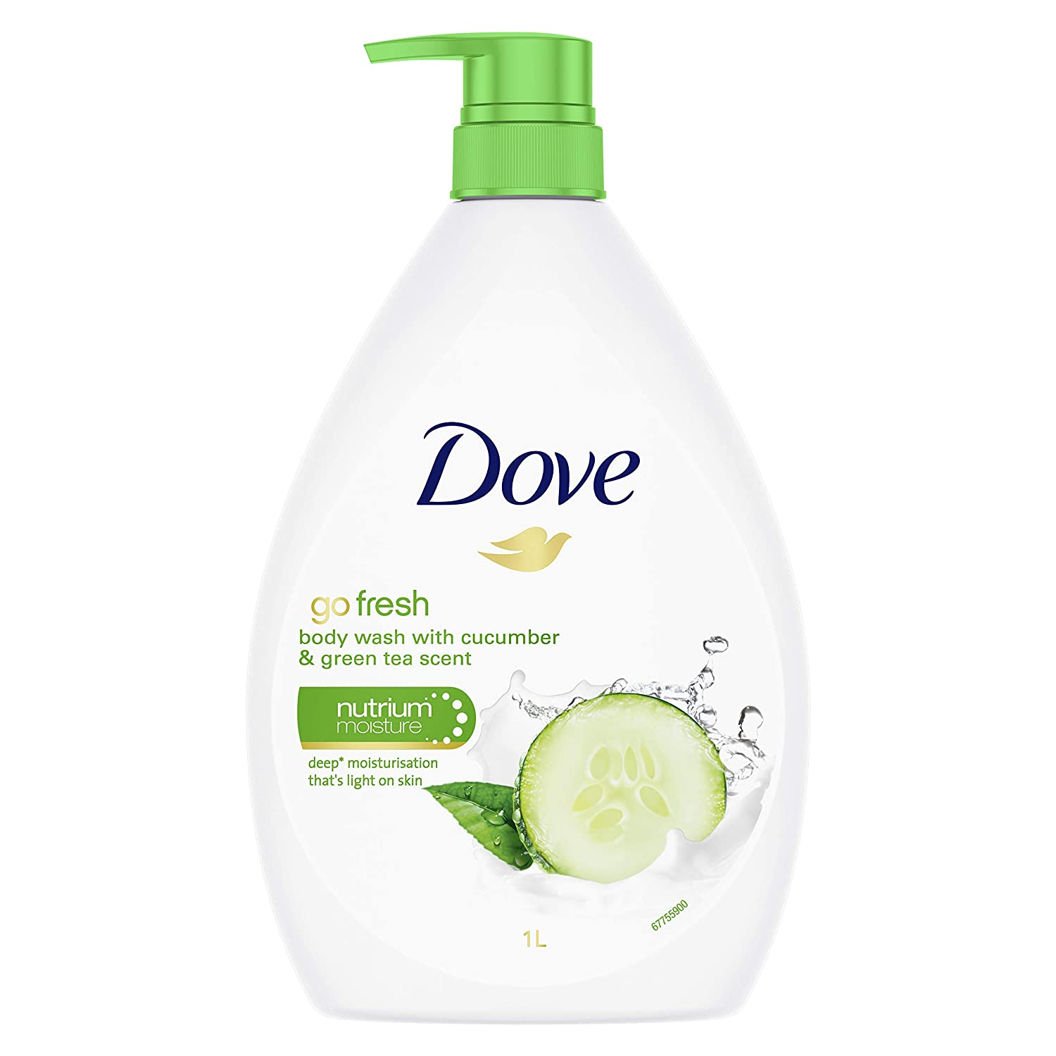 Amazon Com Dove Go Fresh Touch Body Wash Cucumber And Green Tea 33 8 Ounce 1 Liter International Version Beauty