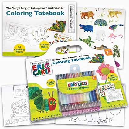 Amazon.com: Eric Carle Coloring Book Super Set -- Giant Eric Carle ...