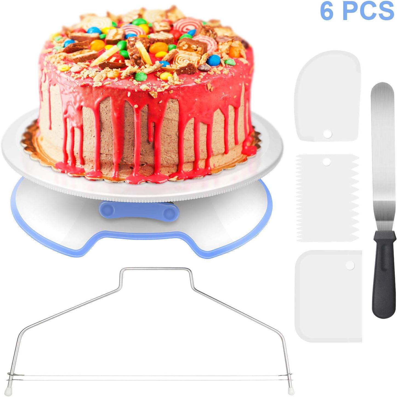 "11/"" 6PCs//Set Cake Rotating Stand Decorating Turntable Plate Display Decorating"