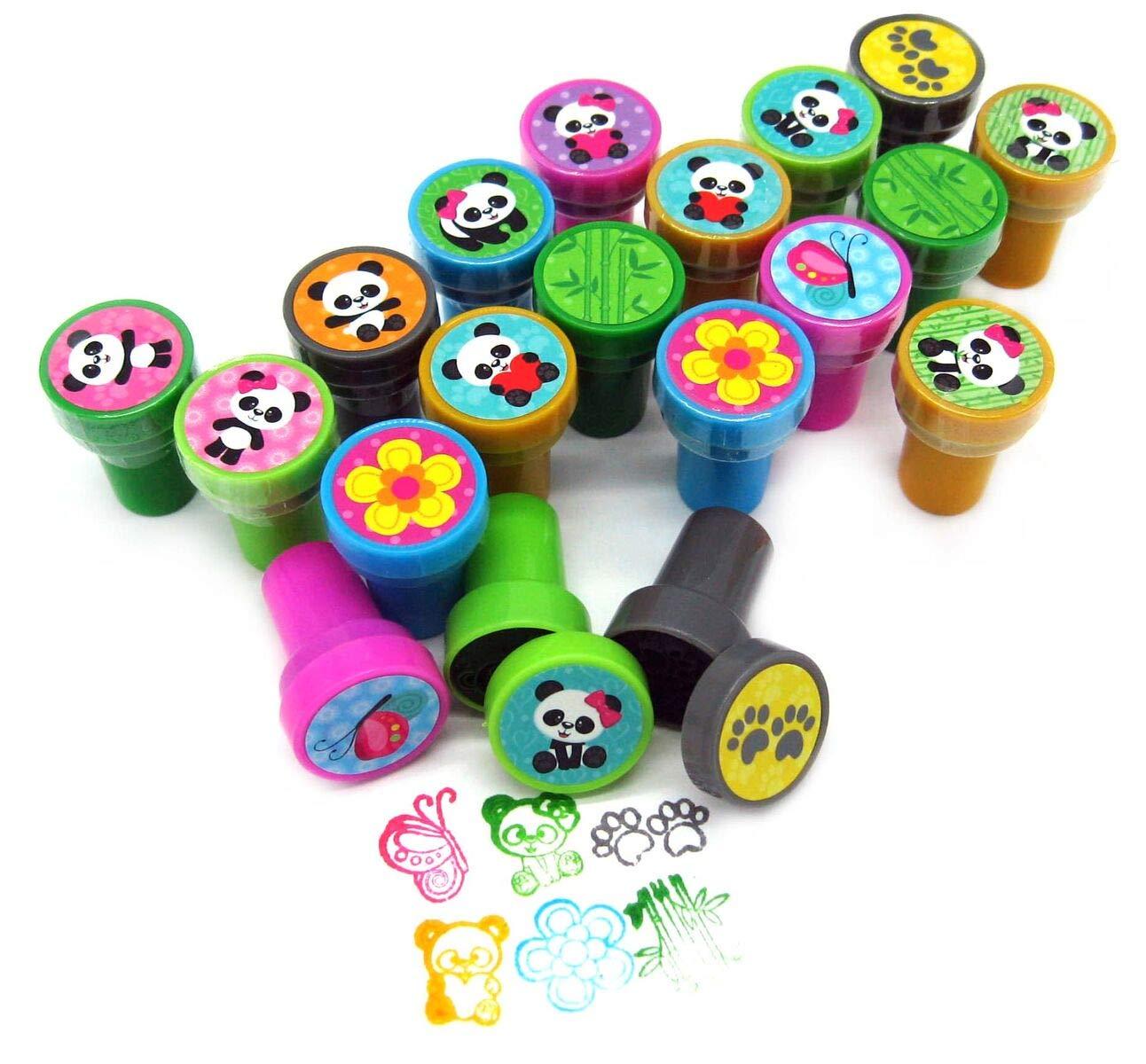 TINYMILLS 24 Pcs Panda Stampers for Kids