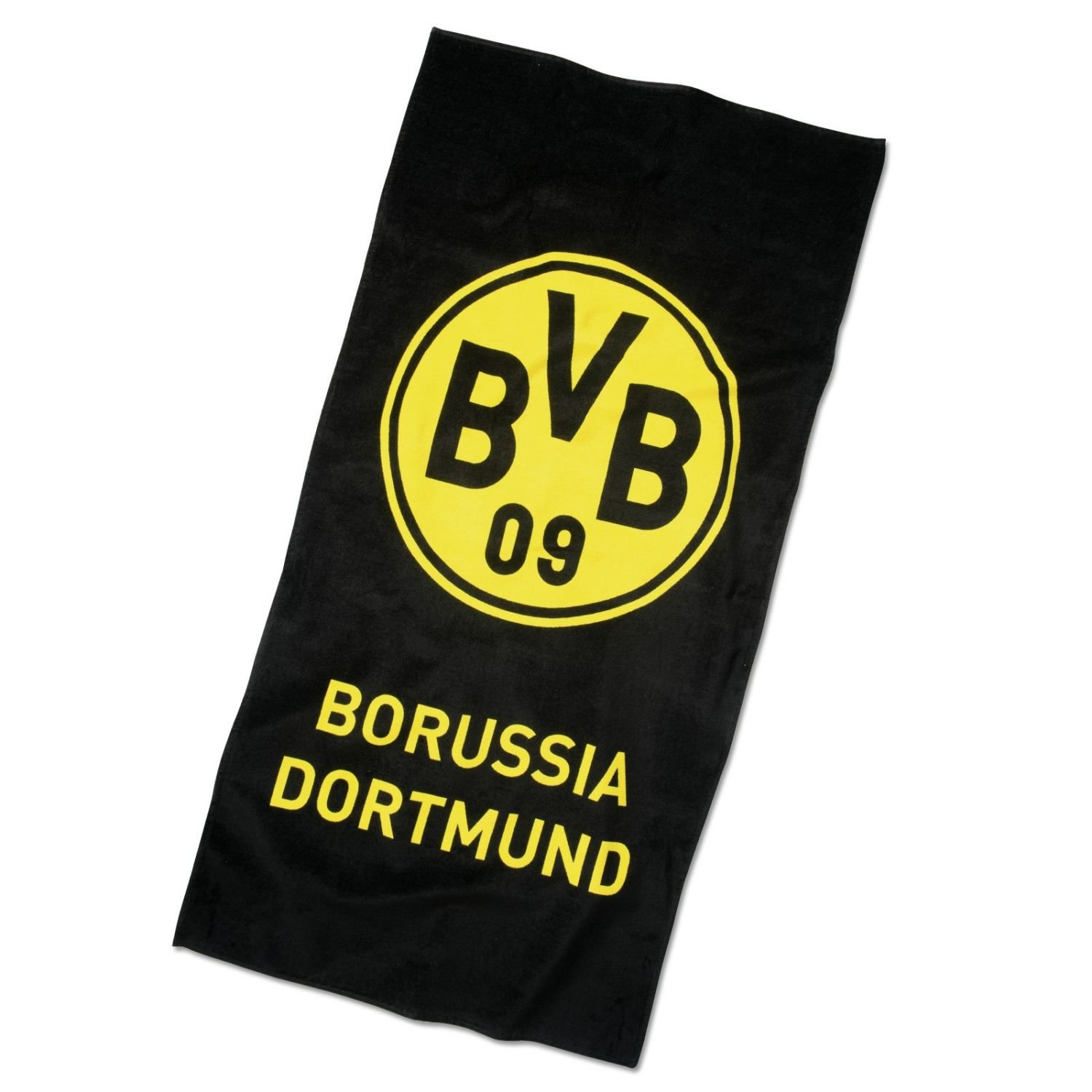 'Borussia Dortmund Emblem Beach Towel with FREE Matching BOOKMARK I Love Dortmund