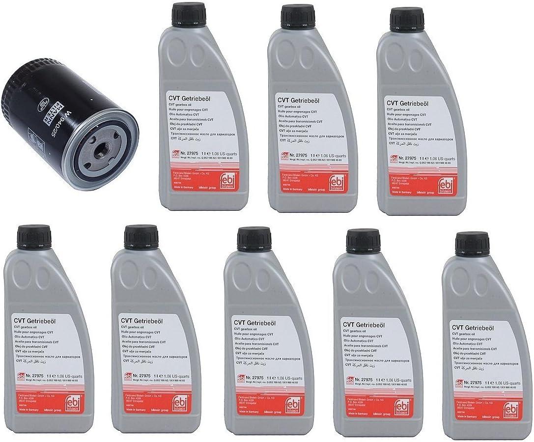 Amazon Com 8 Liters Of Automatic Transmission Fluid Cvt Type Febi G052180a2 1 Engine Oil Filter Mann 068115561bmn For Audi A6 A4 Mini Cooper Automotive