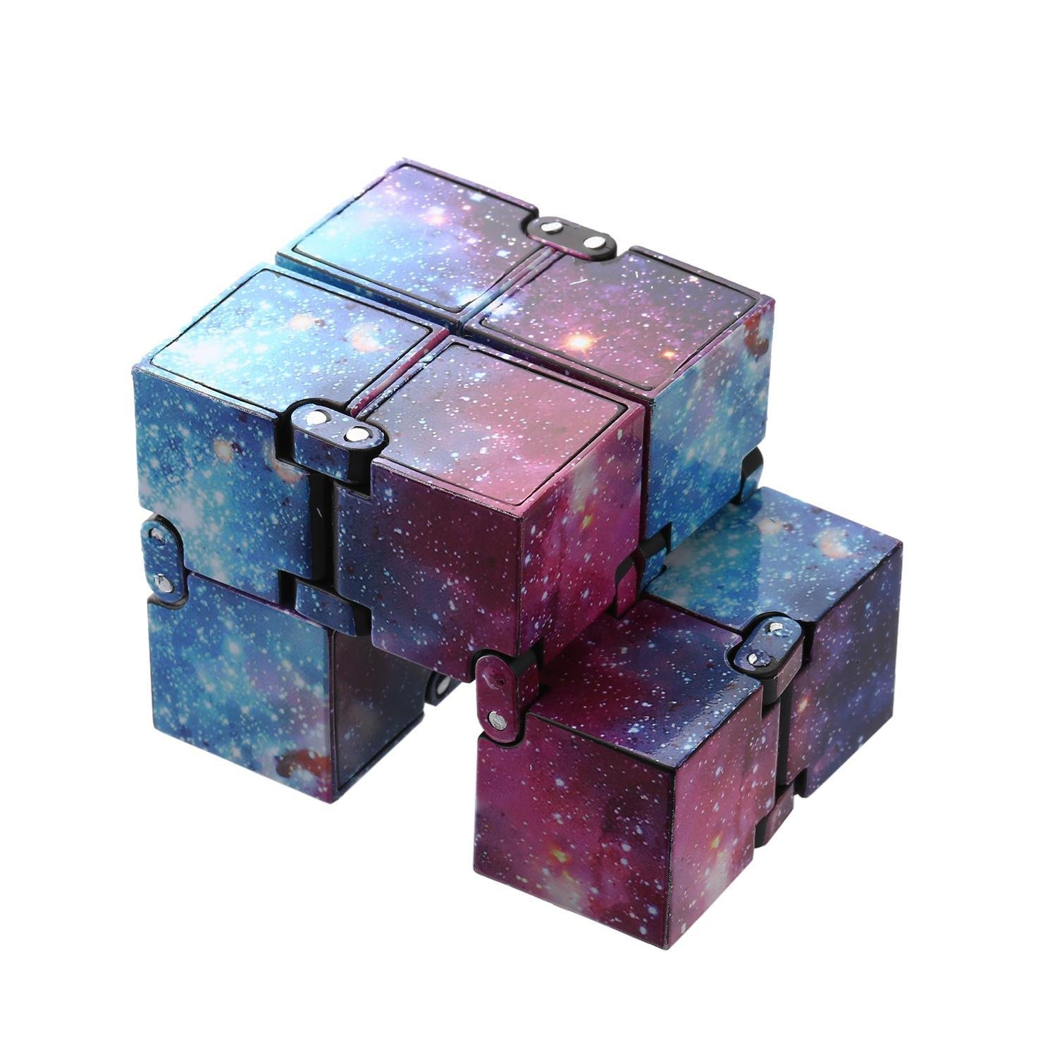 Kikole Colorful Infinity Cube for Stress Relief Anti Anxiety Stress Funny Toy Novelty Spinning Tops