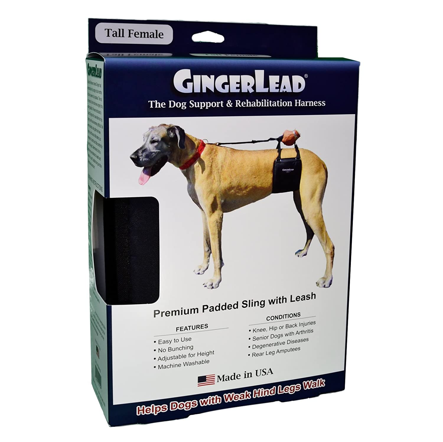 Amazon gingerlead dog support rehabilitation harness tall amazon gingerlead dog support rehabilitation harness tall female sling for tall lean dogs ideal for aging disabled or injured dogs needing nvjuhfo Choice Image