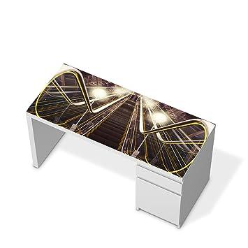 Klebefolie Sticker Aufkleber für Ikea Malm Schreibtisch ...