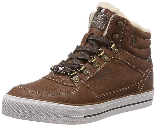 Mujer Sneaker Para Altas Mustang High Amazon Top es Zapatillas FYTOw