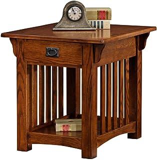 Leick Furniture Mission Drawer End Table, Medium Oak