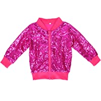 Cilucu Kids Jackets Girls Boys Sequin Zipper Coat Jacket Toddler Birthday Christmas Clothes