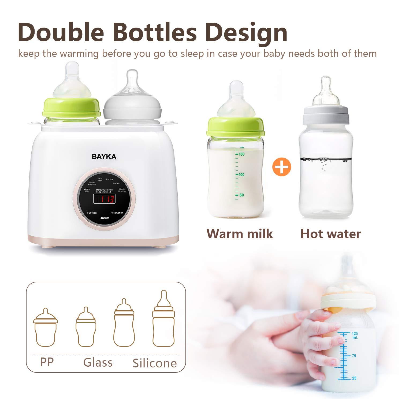 Bottle Warmer , BAYKA 6-in-1 Baby Bottle Warmer with Rapid ...