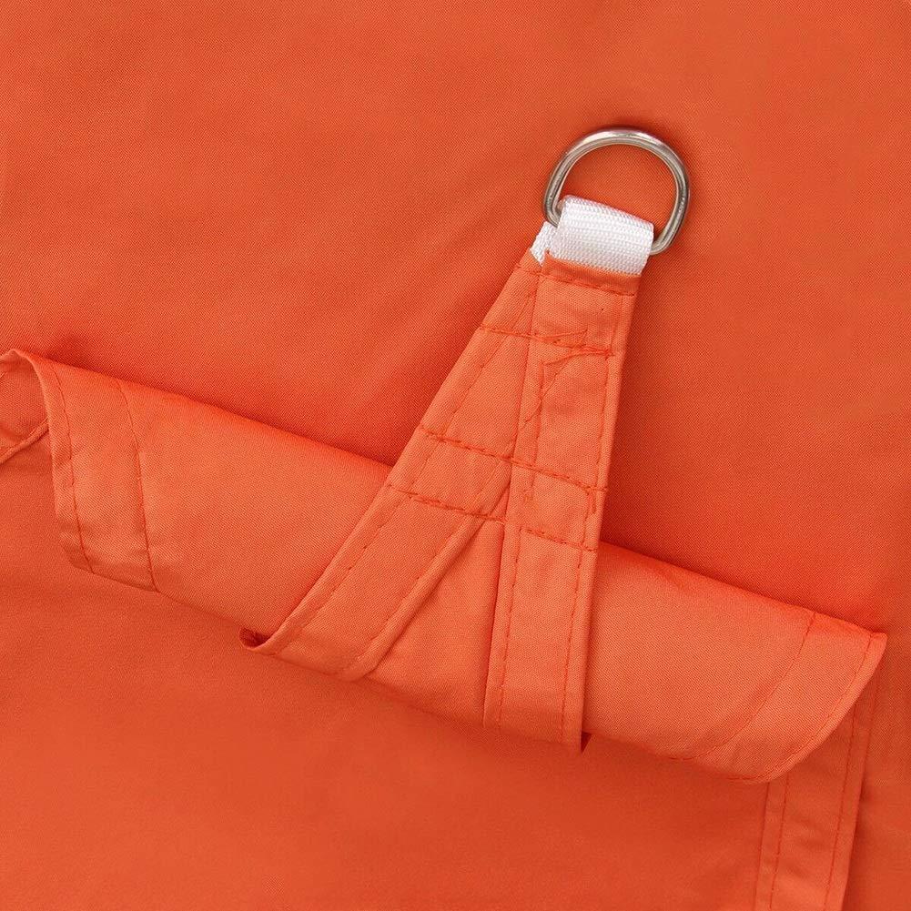 JIANFEI オーニング シェード遮光ネッシェードセイル 屋外ピクニック ビーチテント 防水 340ステンレスDリング 、22サイズ カスタマイズのサポート (Color : Orange, Size : 5.0x5.0m) B07TXHFMRJ Orange 5.0x5.0m
