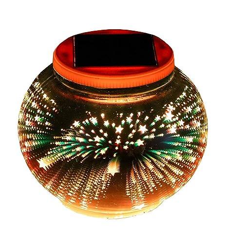 Lámparas Solares,SUAVER Lámpara de mesa 3D Luces Solares ...