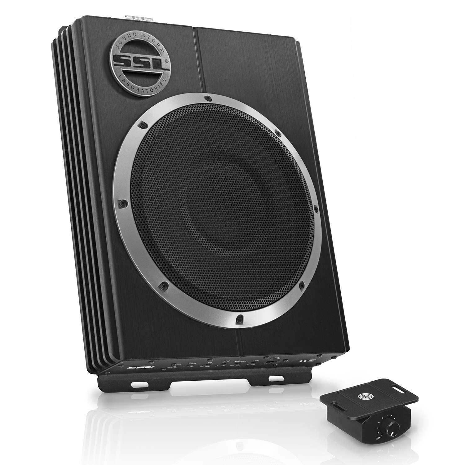 Sound Storm Lopro10 Amplified Car Subwoofer 1200 Watts Loudspeaker System Crossover Network Speaker Protection Circuit Max Power Low Profile 10 Inch Remote Control Great For Vehicles